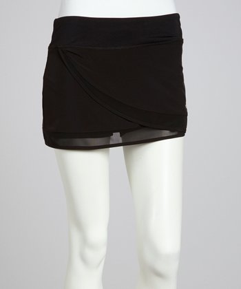 Black Flutter Breeze Skort