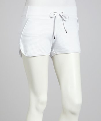 White Drop Needle Shorts