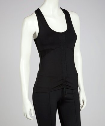 Black Two-Way Street Racerback Tank