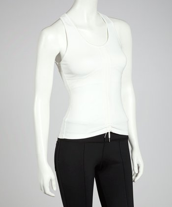 White Two-Way Street Racerback Tank