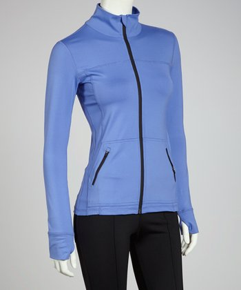 Light Blue Body Hug Jacket - Women