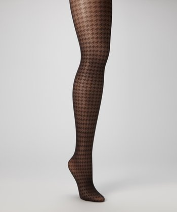 Black Houndstooth Tights