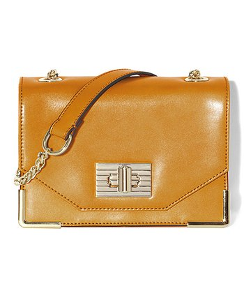 Saffron Leather Alba Shoulder Bag
