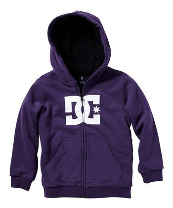 Purple & White Star Zip-Up Hoodie - Toddler & Boys