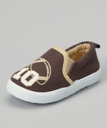 Brown Football Slip-On Sneaker