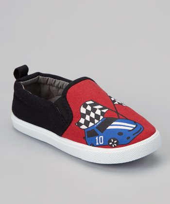 Red Race Car Slip-On Sneaker