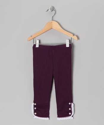 Plum Lace Leggings - Toddler & Girls