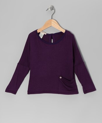 Plum Pocket Dolman Top - Toddler