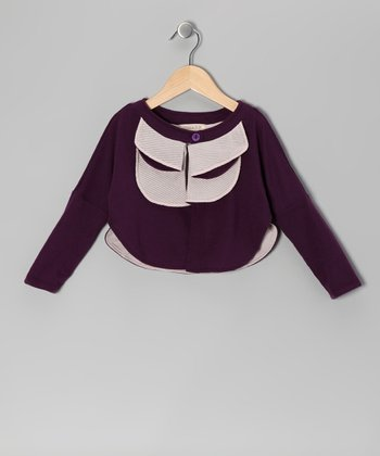 Plum Tiered Cardigan - Toddler & Girls