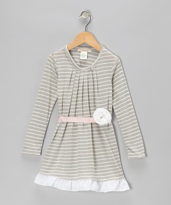 Gray Stripe Gingerbread Dress - Infant & Toddler
