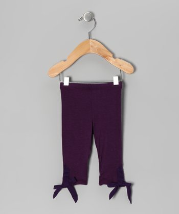 Plum Bow Leggings - Infant