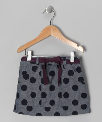 Blue Polka Dot Gumdrop Skirt - Toddler