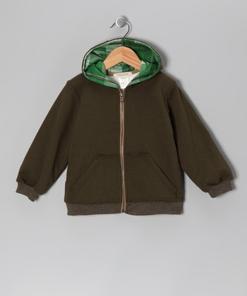Green Zip-Up Hoodie - Toddler