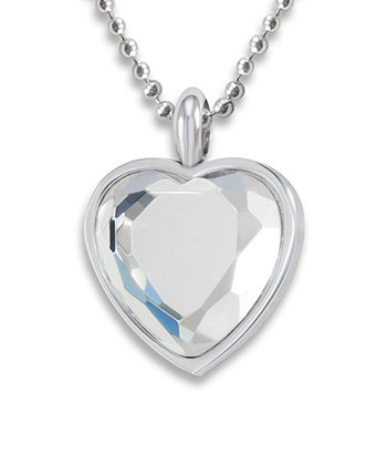 Silver Stainless Steel Heart Pendant Necklace