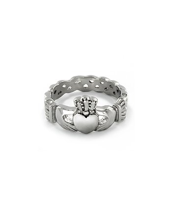Silver Stainless Steel Celtic Knot Eternity Ring
