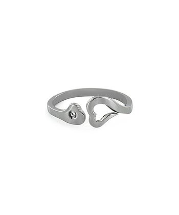Silver Stainless Steel Heart Ring