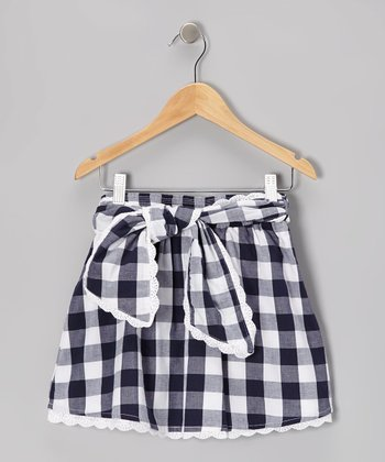 Navy Plaid Skirt - Toddler & Girls