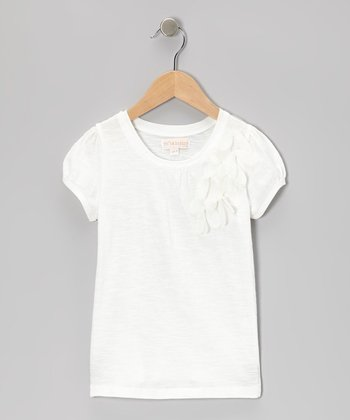 White Flower Tee - Infant, Toddler & Girls