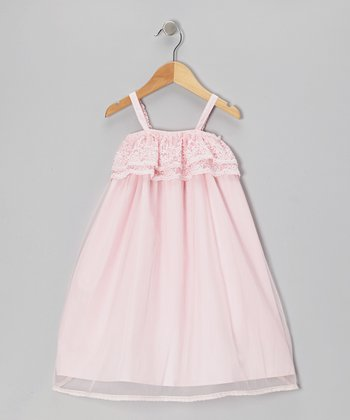 Pink Lace Babydoll Dress - Toddler & Girls