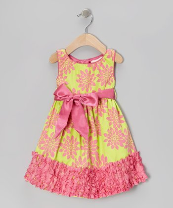 Lime Evelyn Dress - Toddler
