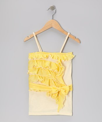 Ivory Ruffle Tank - Toddler & Girls