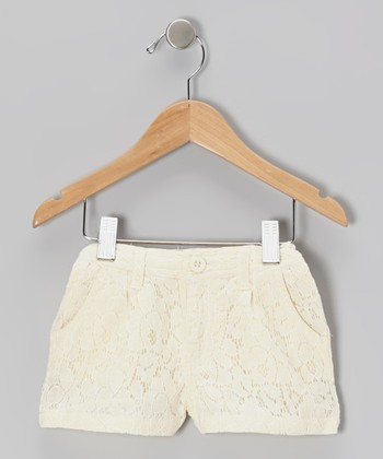Ivory Lace Shorts - Toddler & Girls