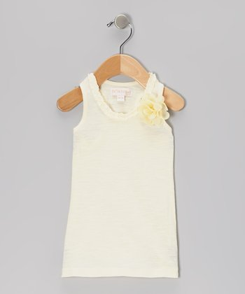 Ivory Flower Racerback Tank - Infant, Toddler & Girls