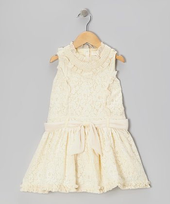 Ivory Lace Princess Dress - Girls