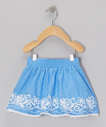 Blue Swiss Dot Skirt - Infant & Girls