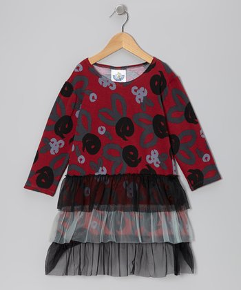 Crimson Brush Rose Tutu Dress - Infant & Girls