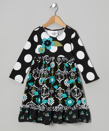 Black Chandelier Babydoll Dress - Infant, Toddler & Girls