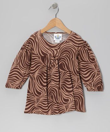 Brown Zebra Tunic - Infant, Toddler & Girls