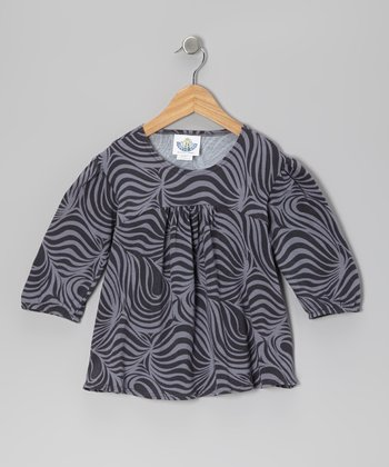Charcoal Zebra Tunic - Infant, Toddler & Girls