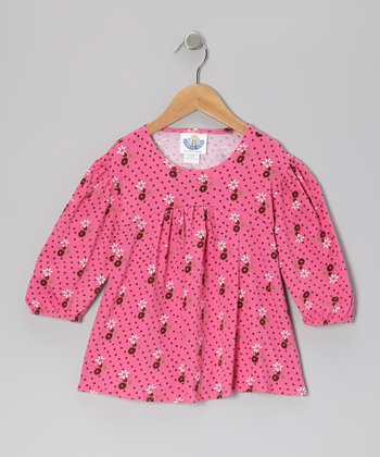 Pink Cluster Dot Tunic - Infant & Girls