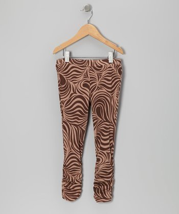 Brown Zebra Leggings - Toddler & Girls