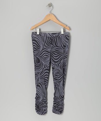 Charcoal Zebra Leggings - Infant, Toddler & Girls