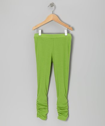 Lime Leggings - Girls
