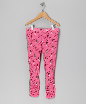 Pink Cluster Dot Leggings - Infant