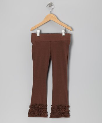 Brown Flare Pants - Toddler & Girls