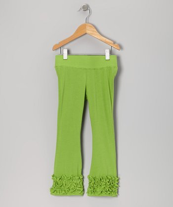 Lime Flare Pants - Toddler & Girls