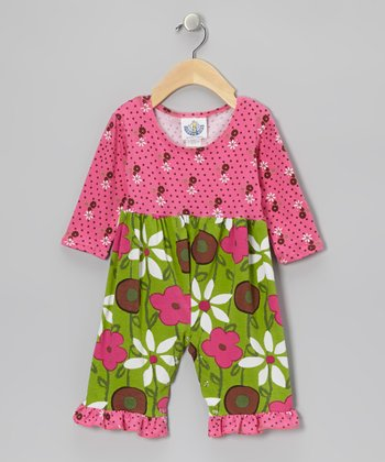 Green & Pink Garden Mix Playsuit - Infant