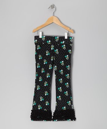 Black Cluster Dot Leggings - Infant & Toddler