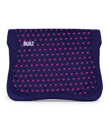 Navy Polka Dot Envelope for iPad