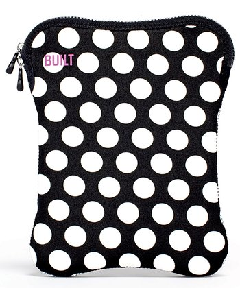 Black & White Polka Dot Sleeve for E-Reader/Tablet