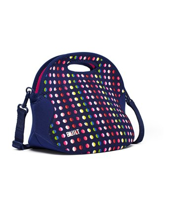 Navy Mini Dot Large Spicy Relish Lunch Tote