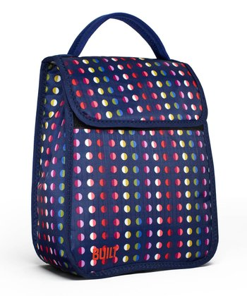 Navy Mini Dot Essential Lunch Tote