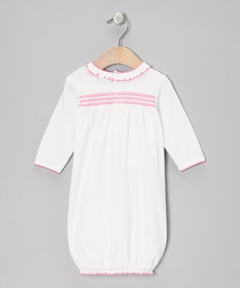 Pink & White Ruffle Gown - Infant