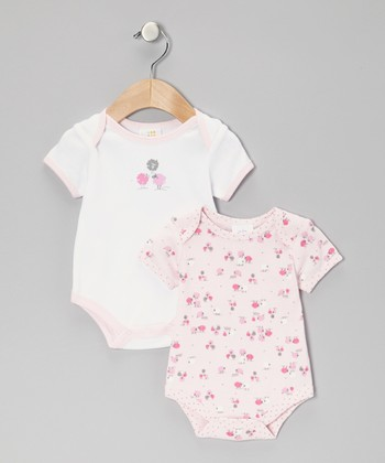 Light Pink & White Sheep Bodysuit Set