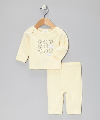 Yellow Beary Bunch Top & Pants