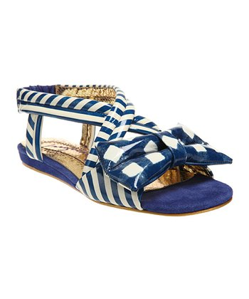 Blue & Cream Jolly Lolly Sandal